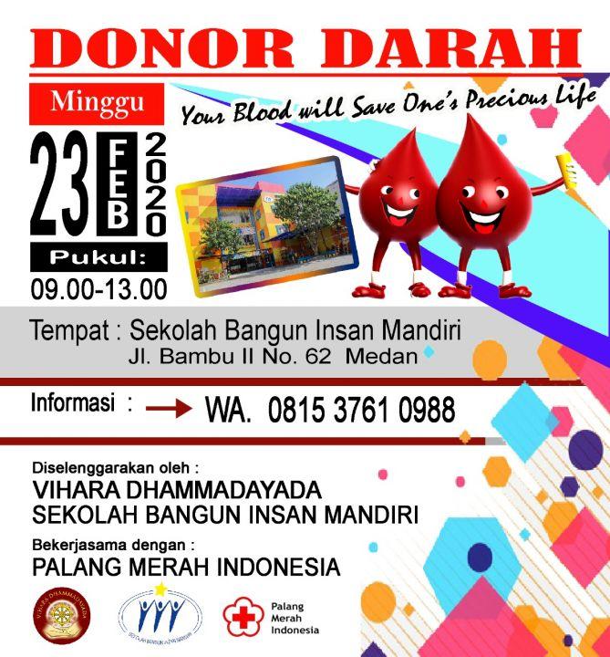 foto-baksos-Donor Darah 23 Februari 2020
