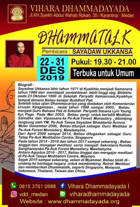 foto-kebaktian-Dhammatalk Sayadaw Ukkansa 22 Des 2019 ~ 1 Jan 2020