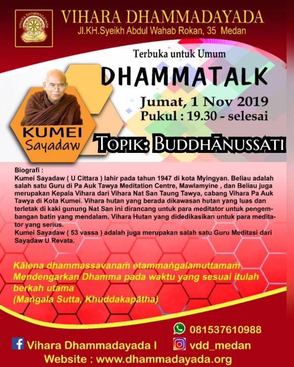 foto-kebaktian-Dhammatalk Kumei Sayadaw 1 November 2019